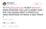 Riff Raff Trump freestyle diss track response to Eminem tweet from Tee Tweets