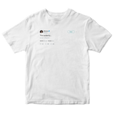 Rihanna the audacity tweet on a white t-shirt from Tee Tweets
