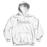 Rihanna young ladies love yourself tweet on a white hoodie from Tee Tweets