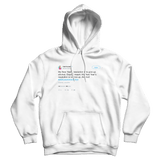 Samantha Bee New Years resolution is to give up alcohol white tweet hoodie