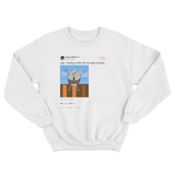Serene Williams feeling like Humpty Dumpty tweet on a white crewneck sweater from Tee Tweets