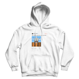 Serena Williams feeling a little like Humpty Dumpty white tweet hoodie