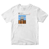 Serene Williams feeling like Humpty Dumpty tweet on a white t-shirt from Tee Tweets