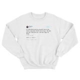 Shaquille O'Neal be who you are I am ugly tweet on a white crewneck sweater from Tee Tweets