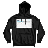 Shaquille O'Neal do I Twitter hell yeah baby tweet on a black hoodie from Tee Tweets