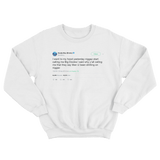 Soulja Boy people call me Big Dookie tweet on a white crewneck sweater from Tee Tweets