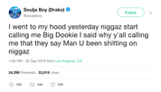 Soulja Boy people call me Big Dookie tweet from Tee Tweets
