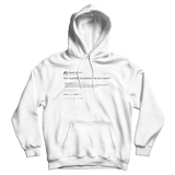Stephen Colbert are you insance Donald Trump Jr. tweet on a white hoodie from Tee Tweets