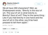 "Stephen Colbert - ""Brevity Is The Soul Of Wit"""