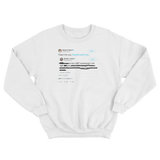 Stephen Colbert fixed LGBT for Donald Trump tweet on a white crewneck sweater from Tee Tweets