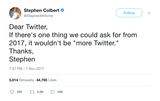 "Stephen Colbert - ""Not More Twitter"""