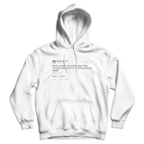 Stephen Colbert Netflix raising subscription rates tweet on a white hoodie from Tee Tweets