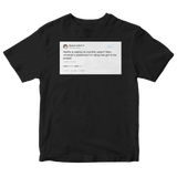 Stephen Colbert Netflix raising subscription rates tweet on a black t-shirt from Tee Tweets