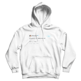 Stephen Colbert Scaramucci we barely knewcci white tweet hoodie