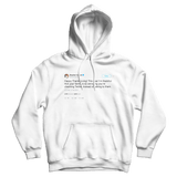 Stephen Colbert happy Thanksgiving tweet on a white hoodie from Tee Tweets