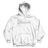 Stephen Colbert welcome home Donald Trump tweet on a white hoodie from Tee Tweets