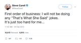 Steve Carell that's what she said jokes tweet from Tee Tweets