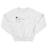 T-Pain protect Eminem at all costs tweet on a white crewneck sweater from Tee Tweets