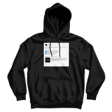 Customize and create your own Twitter tweet top on a black hoodie from Tee Tweets