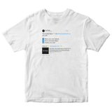 Customize and create your own Twitter tweet top on a white t-shirt from Tee Tweets