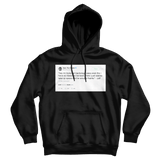 Tyler The Creator backstage pass tweet on a black hoodie from Tee Tweets
