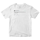 Tyler The Creator look both ways before you cross my mind tweet white t-shirt from Tee Tweets