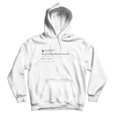 Tyler The Creator school or keep griding music tweet on a white hoodie from Tee Tweets