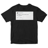Tyler The Creator sometimes I think about us tweet on a black t-shirt from Tee Tweets