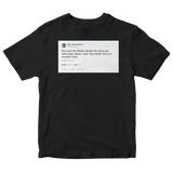 Tyler The Creator music too weird for radio tweet on a black t-shirt from Tee Tweets