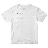 Tyler The Creator what the damn tweet on a white t-shirt from Tee Tweets
