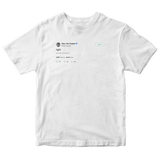 Tyler The Creator iight tweet on a white t-shirt from Tee Tweets