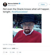 Warren Buffett the Walter White Heisenberg successor tweet from Tee Tweets