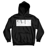 Warren Buffett Warren is in the house tweet on a black hoodie from Tee Tweets
