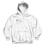 Warren Buffett Warren is in the house tweet on a white hoodie from Tee Tweets