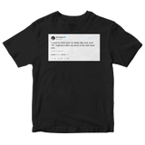 Wiz Khalifa waking up early is the real boss move tweet on a black t-shirt from Tee Tweets