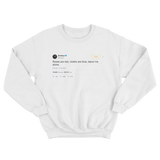 Zendaya roses are red violets are blue leave me alone tweet white crewneck sweater from Tee Tweets
