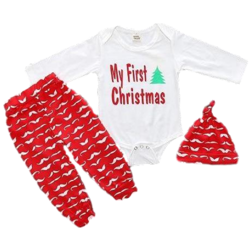 8930c2ea6b6 Baby 3-Piece First Christmas Set – Jimmie Jammies