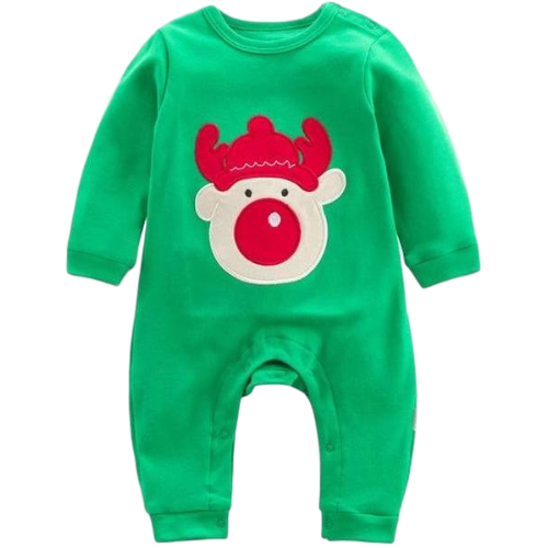 8646ddf53cd Embroidered Rudolph Romper – Jimmie Jammies