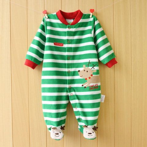 8bba3be1dba Green Striped Rompers with Footies.  24.99.  49.99. Gray