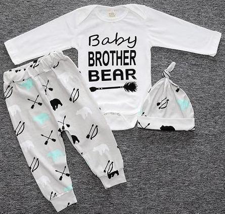 39edce0a383 Baby 7-24 months old matching romper pants and hat pajama pjs