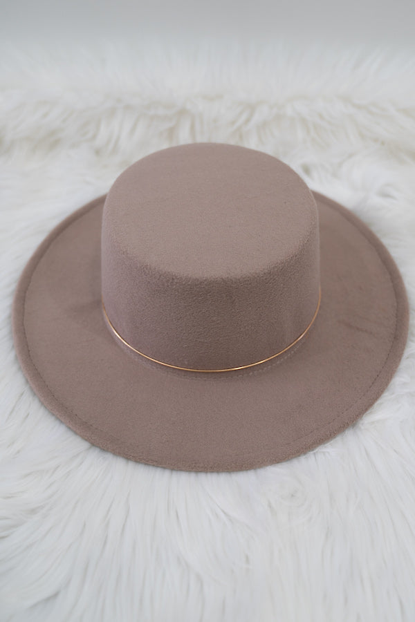 Gold Trim Bolero Hat - BLANK Wardrobe