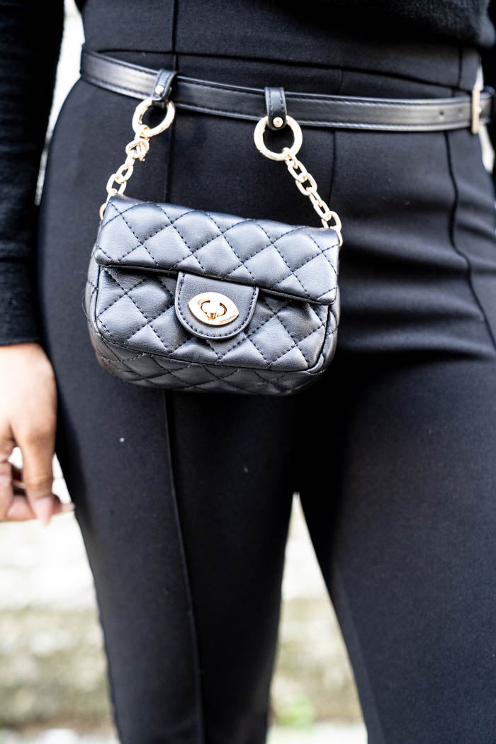 Quilted Vegan Leather Belt Bag