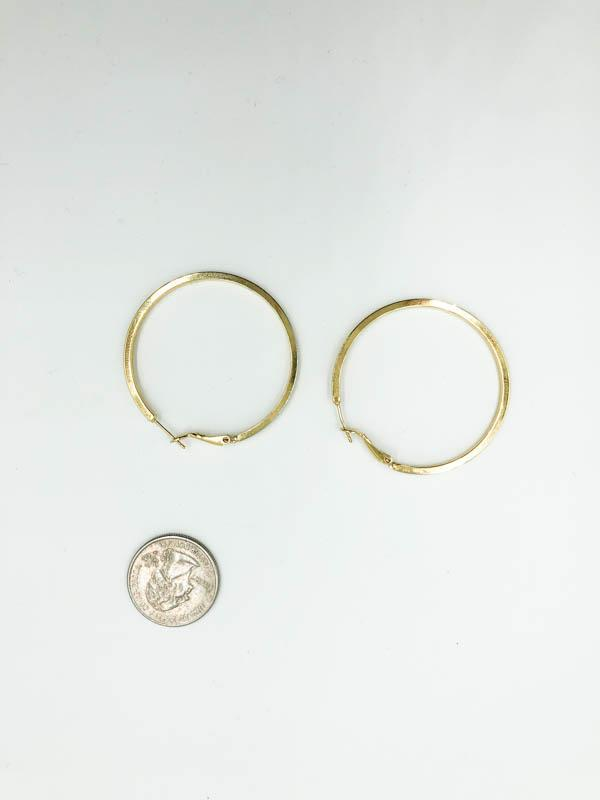 Medium Sized Hoop Earrings