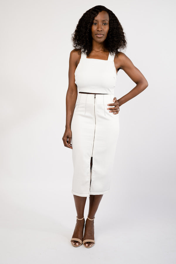Above Average Two-Piece Crop Top and Pencil Skirt Set - BLANK Wardrobe