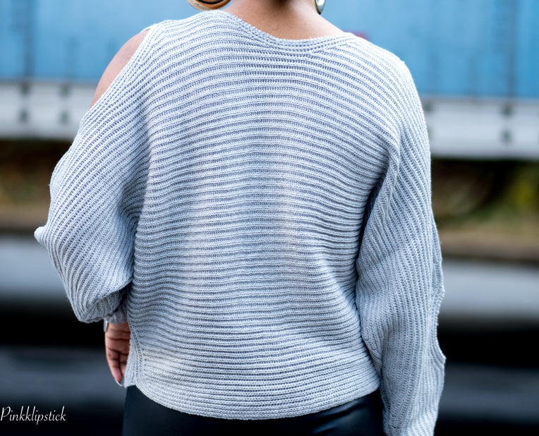 It's Sweater Weather Cut Out Knit - BLANK Wardrobe