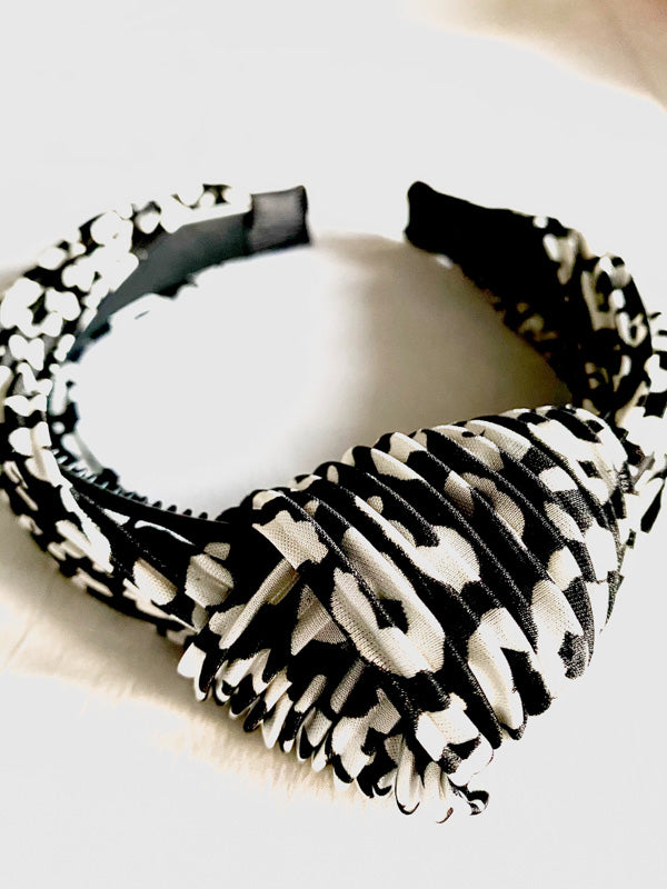 Animal Print Knot Headband