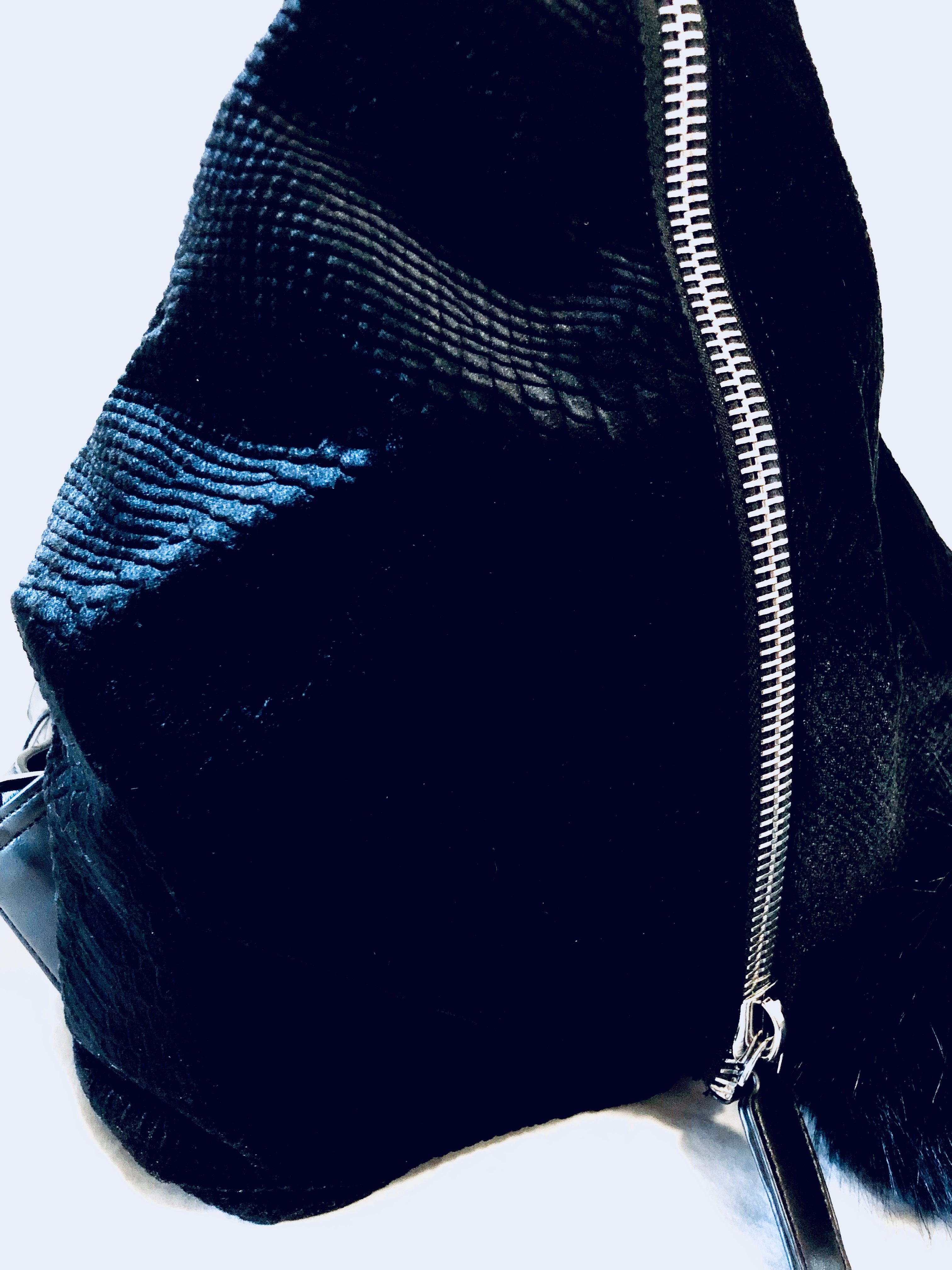 Geometric Snakeskin Print Backpack