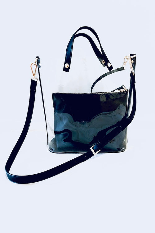 Transparent Modern Top Handle Tote Bag with Insert