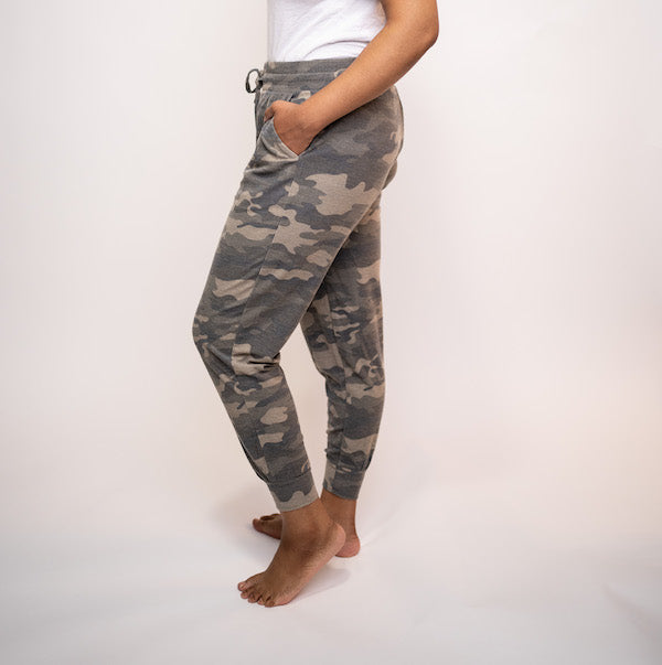 French Terry Camo Jogging Pant