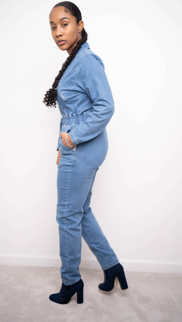 Utility Boiler Jumpsuit (Denim)